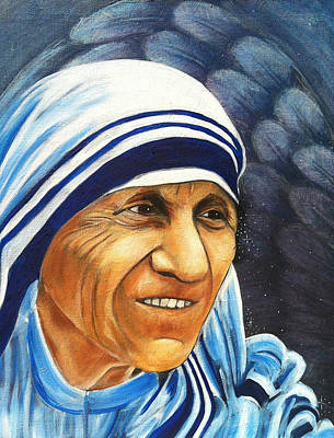 Mother Teresa Painting - Mother Teresa by Christine Hartmann