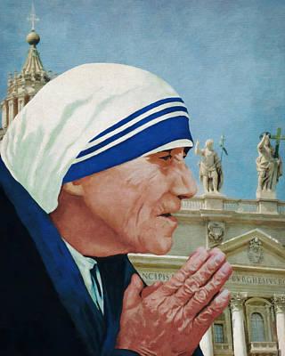 Photograph - Saint Teresa Of Calcutta by Sandra Selle Rodriguez