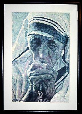 Mother Teresa Painting - Mother Teresa Portrait by Michael Torevell