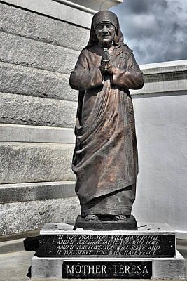 Devotional Photograph - Mother Teresa - St Louis Cemetery No 3 New Orleans by Christine Till