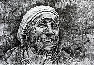 Mother Teresa Art Print by Stephen  Bennett