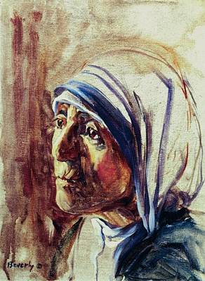 Mother Theresa Art Print by Beverly Klucher