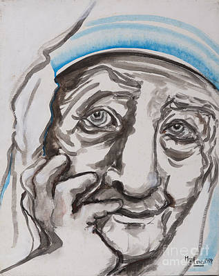 Mother Theresa Painting - Mother Theresa Smile by May Ling Yong