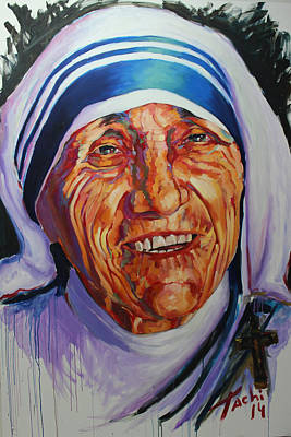 Mother Theresa Painting - Mother Theresa by Tachi Pintor