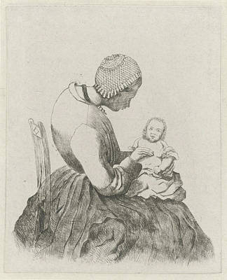 Mother With Child, Eberhard Cornelis Rahms Art Print