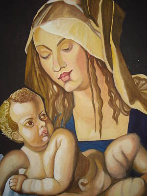 Mother With Her Child Art Print by Prasenjit Dhar