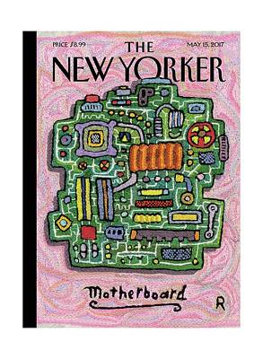 Sewing Drawing - Motherboard by Roz Chast