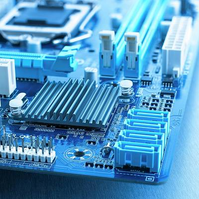 Hardware Photograph - Motherboard by Science Photo Library