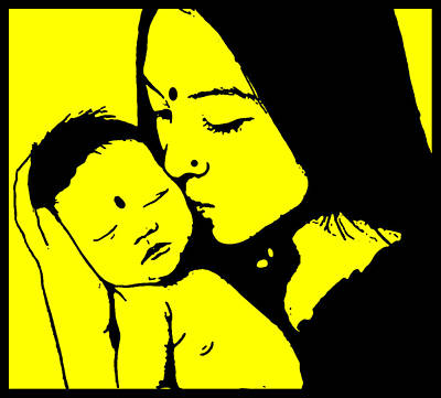 Motherhood Original by Bliss Of Art