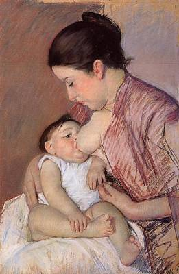 Motherhood Art Print by Marry Cassatt