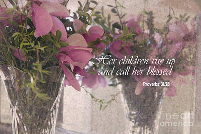 Photograph - Mother's Bible Verse by Sally Simon
