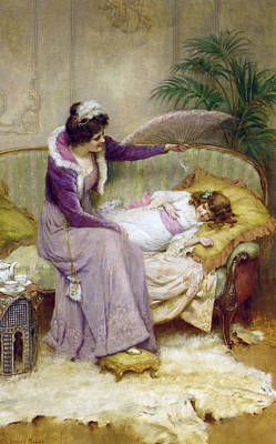 Digital Art - Mothers Comfort by George Sheridan Knowles