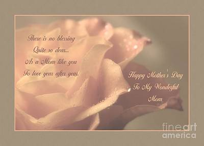 Digital Art - Mother's Day Blessing by JH Designs