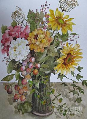 Mother's Day Bouquet Art Print by Karen Olson
