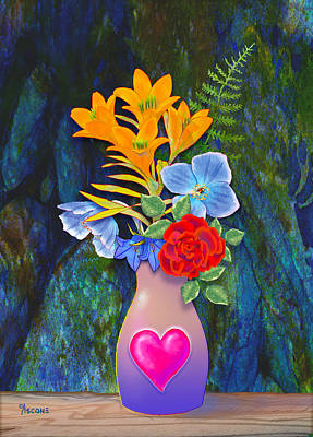 Mothers Day Bouquet Art Print by Teresa Ascone