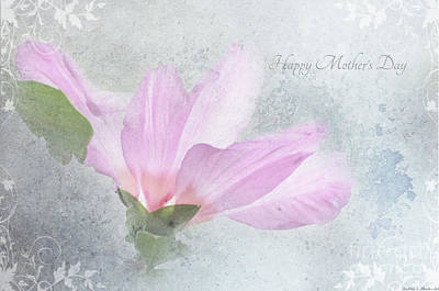 Photograph - Mother's Day Card Rose Of Sharon by Debbie Portwood