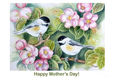 Painting - Mother's Day Greeting Card by Inese Poga