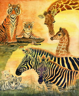 Painting - Mother's Day In The Wild Kingdom by Marilyn Smith