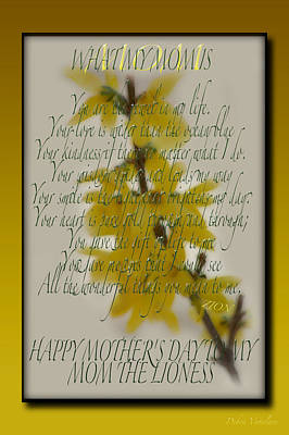 Photograph - Mothers Day Plaques by Debra     Vatalaro