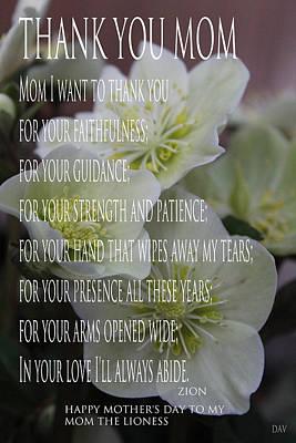 Photograph - Mothers Day  Poem by Debra     Vatalaro