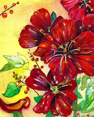 Special Occasion Painting - Mother's Day Red Velvet by M E Wood
