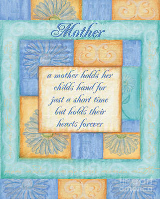 Poetry Painting - Mother's Day Spa Card by Debbie DeWitt