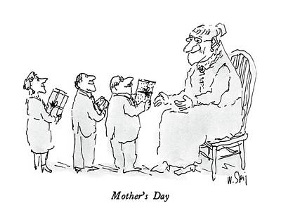 Mothers Day Drawing - Mother's Day by William Steig