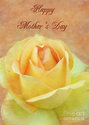 Digital Art - Mother's Day Yellow Rose by JH Designs