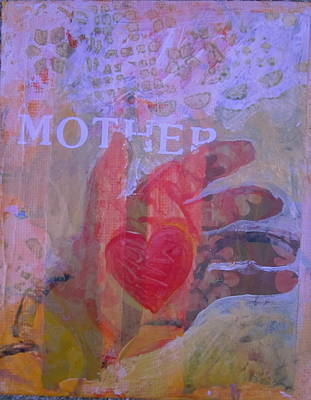 Print featuring the painting Mother's Heart by Tilly Strauss