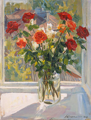 Roses Royalty-Free and Rights-Managed Images - Mothers roses by Victoria Kharchenko