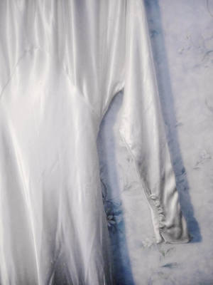 Photograph - Mother's Wedding Dress by Louise Kumpf