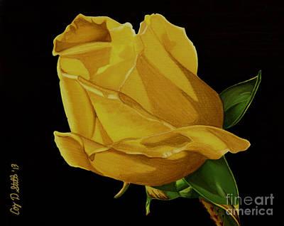 Mother's Yellow Rose Art Print