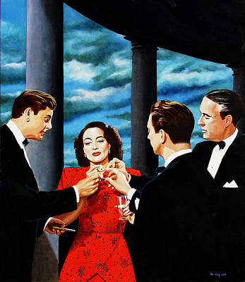 Joan Crawford Painting - Moths To A Flame - Joan Crawford by Jo King