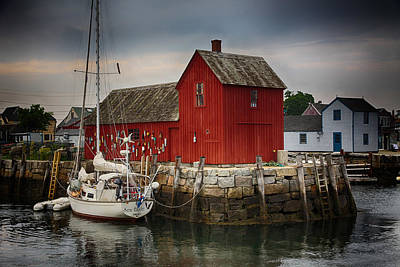 Fishing Shack Photograph - Motif 1 - Rockport Harbor by Stephen Stookey