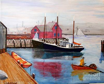Painting - Motif And Boats by Bill Hubbard