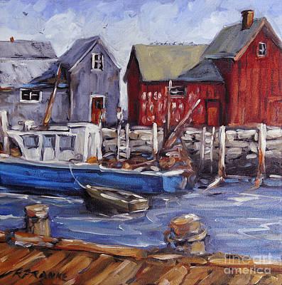 Montreal Painting - Motif I - Wharf Scene  by Richard T Pranke