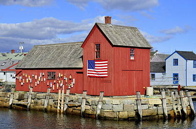 Art Print featuring the photograph Motif In Rockport by Caroline Stella