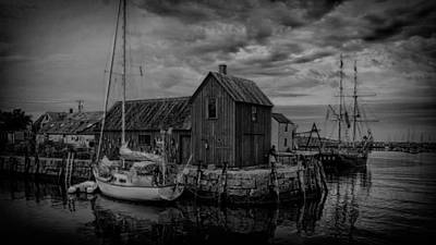 Motif Number 1 Photograph - Motif Number 1 - Black And White by Stephen Stookey