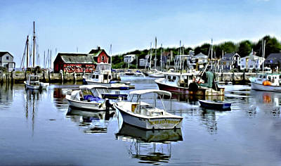 Photograph - Motif Number 1 Rockport Massachusetts by Bob and Nadine Johnston