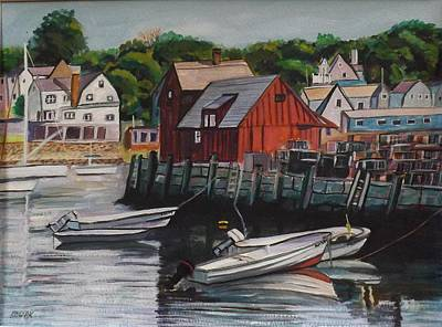 Motif 1 Painting - Motif Number One Boats At Rest by Richard Nowak