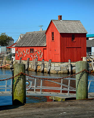 Motif Number One Rockport Lobster Shack Maritime Art Print by Jon Holiday