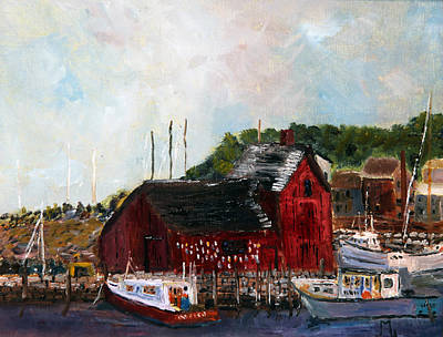 Motif 1 Painting - Motif Number One Rockport by Michael Helfen
