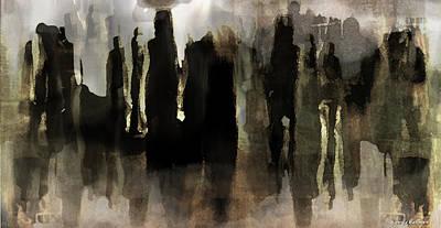 Art Print featuring the digital art Motion Abstract by Danica Radman