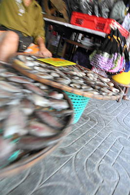 Motion Blurred Street Markets - Bangkok Thailand - 01131 Art Print by DC Photographer