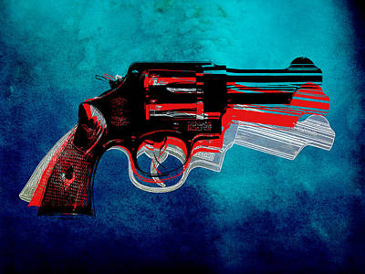 Engraving Digital Art - Motion Gun by Gary Grayson