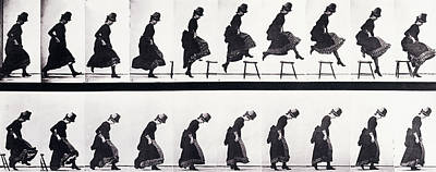 Study Photograph - Motion Study by Eadweard Muybridge