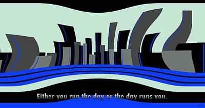 Motivational Run The Day Office Art Art Print