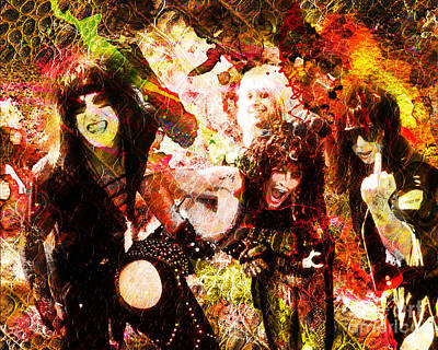 Motley Crue Painting - Motley Crue Original Painting Print by Ryan Rock Artist