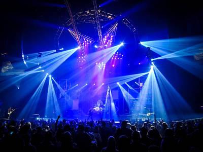Nikki Sixx Photograph - Motley Crue Stage by Matthew Breiter
