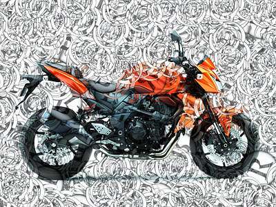 Moto Art S01-01a Art Print by Variance Collections